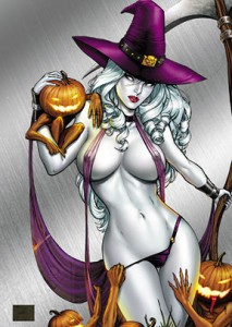 Lady Death: Naughty Witchcraft Metallicard™