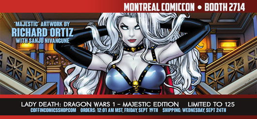 Montreal Comiccon is September 12, 13, 14