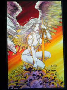 """Hand Colored """"Angel"""" Print #4/10 – No two are alike!"""